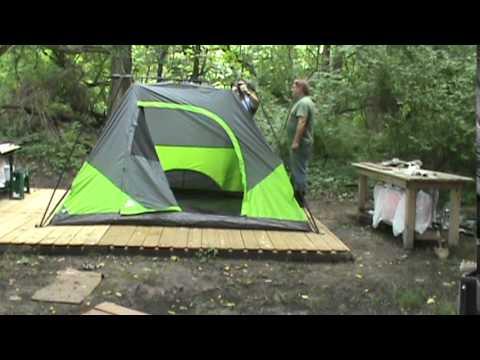 Ozark trail instant tent setup & Ozark trail instant tent setup - YouTube