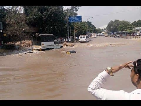 Mula River Canal Burst Flood Like Situation At Dandekar Bridge In Pune