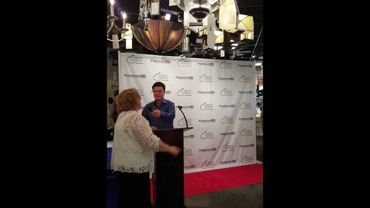 Donny Osmond Meet And Greet At Crest Lighting2 Youtube