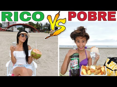 RICO VS POBRE NA PRAIA