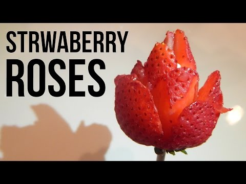 STRAWBERRY ROSES - Mother's Day Gift Idea - Easy Dessert Idea