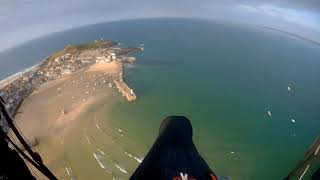 Carbis to St Ives: October Evening Paragliding Along the Atlantic Coast of West Cornwall