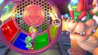 Mario Party 10 Minigames - Yoshi vs Mario vs Luigi vs Peach