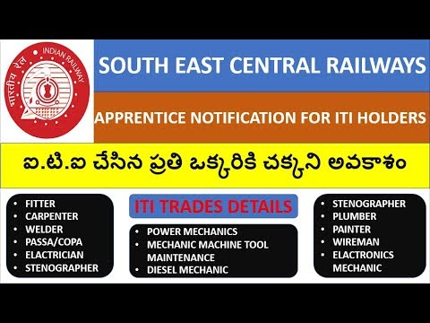 south east central railway apprentice notification | iti apprentice 2018
