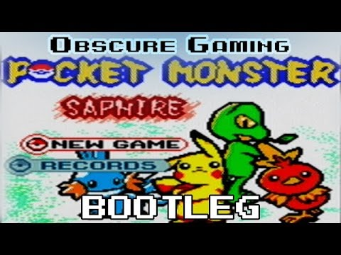 Obscure Gaming: Pocket Monster Saphire Bootleg (GBC)