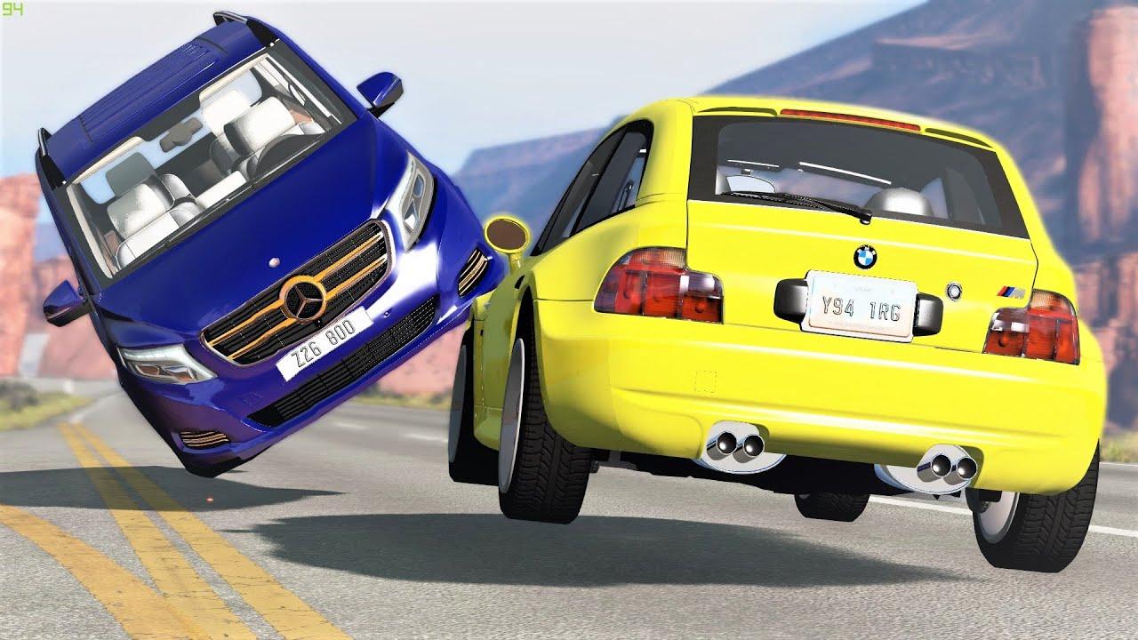 High Speed Traffic Near Misses & Crashes #17 - BeamNG Drive | CRASHdriven