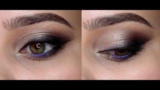 Макияж в форме кошачий глаз с тенями Tarte