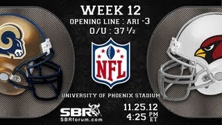 St Louis Rams vs Arizona Cardinals: 2012 NFL Football Picks Week 12