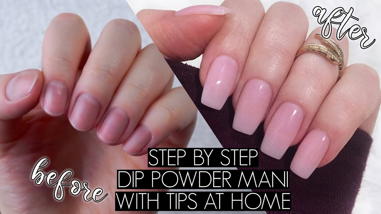 DIY DIP POWDER NAILS AT HOME | The Beauty Vault - YouTube