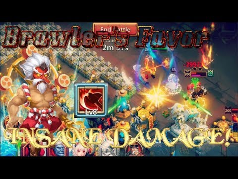 New Talent Brawler's Favor Gameplay INSANE DAMAGE!! - Castle Clash