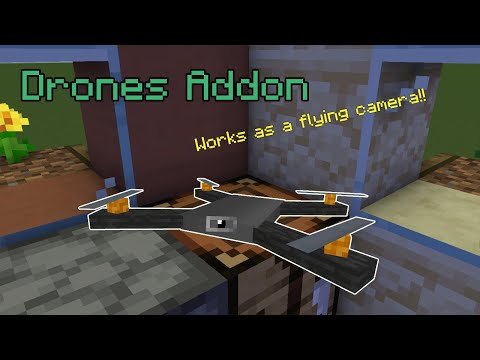 Drones Addon Minecraft PE
