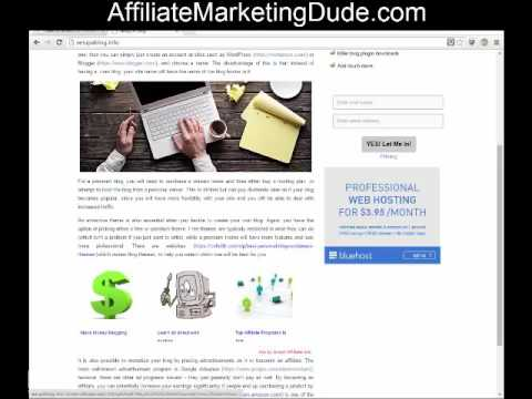 Web Hosting Affiliate Program Site Review