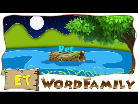 Make a word with et | et word Family | et Rhyming words