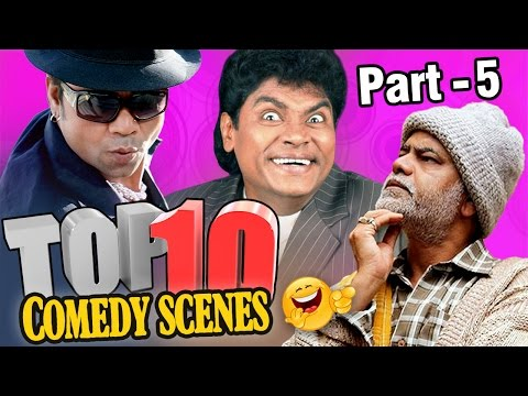 Top 10 Comedy Scenes {HD} Ft - Johnny Lever | Rajpal Yadav |