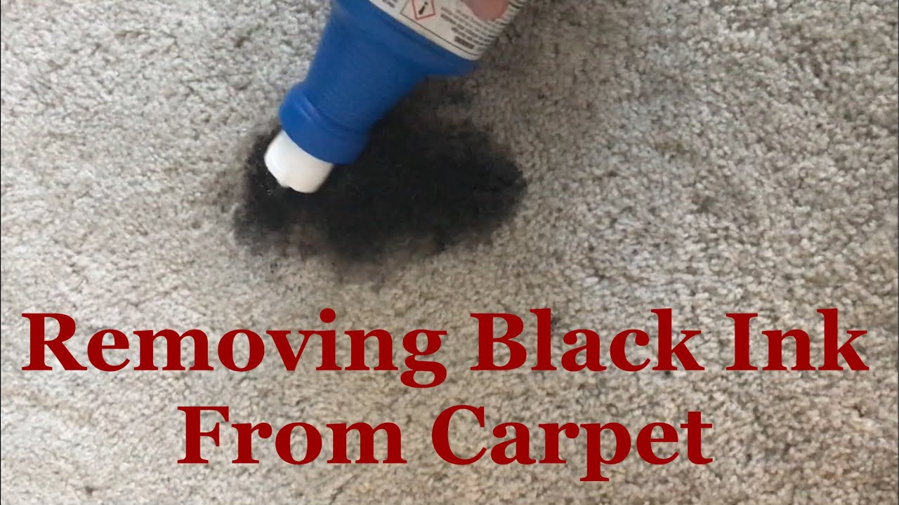 Removing ink from cream colored carpet!