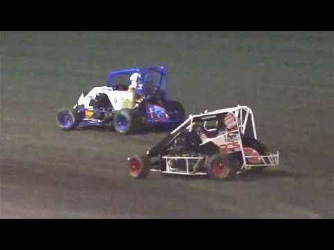 20 Laps - 1 #3r Nick Robfogel, 2 #53 Justin Adiego, 3 #11s Anton Gianini, 4 #8r Rob Brown, 5 #22 Jeromie Charon, 6 #5k Kyle Grissom, 7 #11a Amber Fields, ... - dirt track racing video image