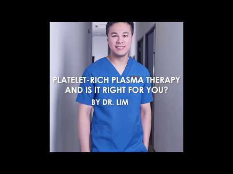 Dr Tingsong Lim: PRP (Platelet-Rich Plasma) Therapy - Truly great?