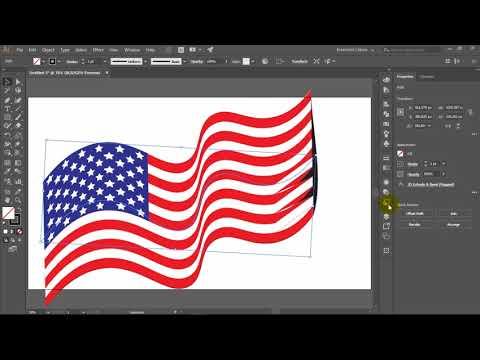 ADOBE ILLUSTRATOR TUTORIAL   Waving Flag Of The United State