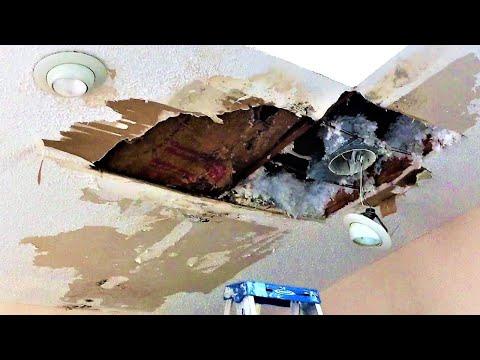 Wednesday Walkthrough- Popcorn Ceiling Damage- Water Damaged Drywall
