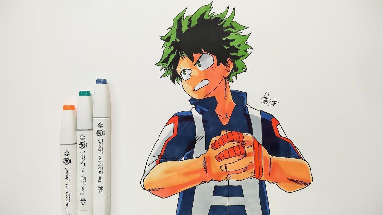 Drawing Izuku Midoriya Boku No Hero Academia