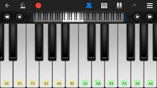 Indian National Anthem (Mobile Piano Tutorial....