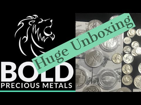 Huge Silver Unboxing from Bold Precious Metals