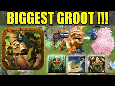 Giant Groot Guardian Of Galaxy in Dota 2 [Grow+Cleave+Vampire] Ability Draft Dota 2