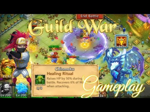 Healing Ritual Ronin Epic Guild War Gameplay — Castle Clash