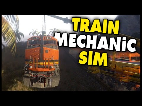 Train Mechanic Simulator 2017 - Lifting A Derailed Train With A Crane Gameplay!