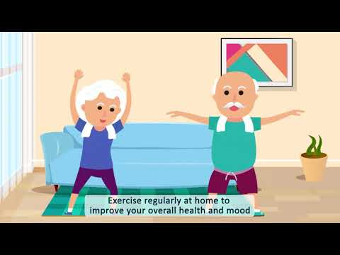 Animated video for elderly on how to stay healthy and cheerful in times of COVID-19 lock-down
