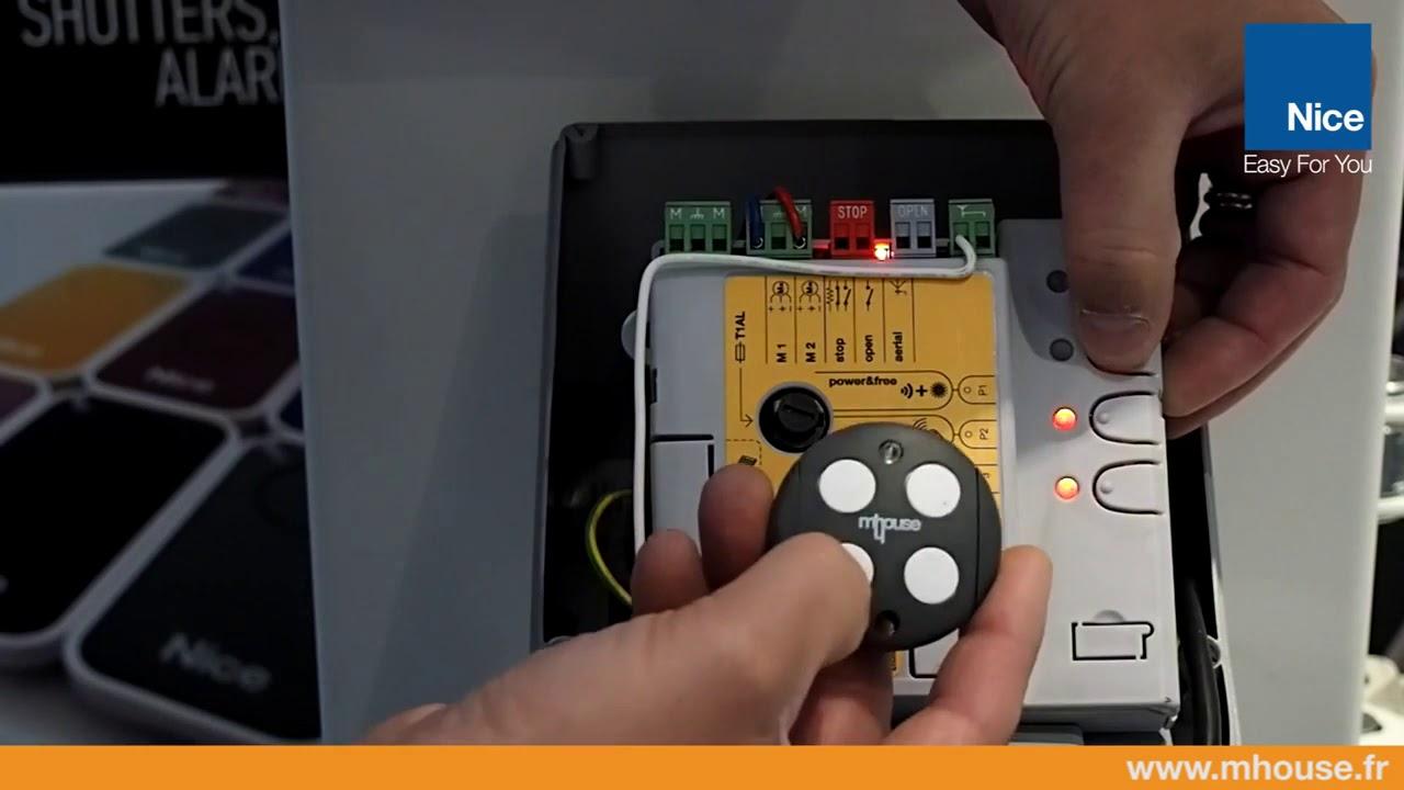 5 Effacer Une Telecommande En Mode 2 Sur Une Motorisation Sans Fil Youtube