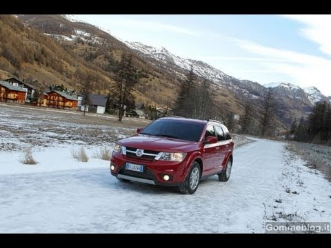 Fiat Freemont Awd Test Neve Snow Driving Youtube