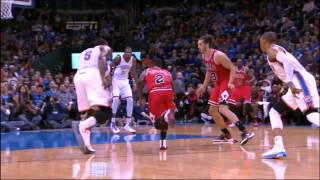 Nate robinson tries to dunk on serge ibaka