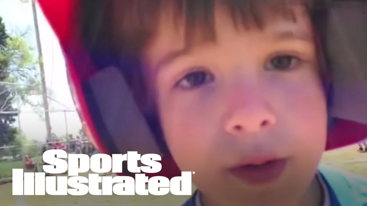 Mustard Minute: Cute Kid Stops Running Bases To Say 'I Love You' To Dad | Sports Illustrat
