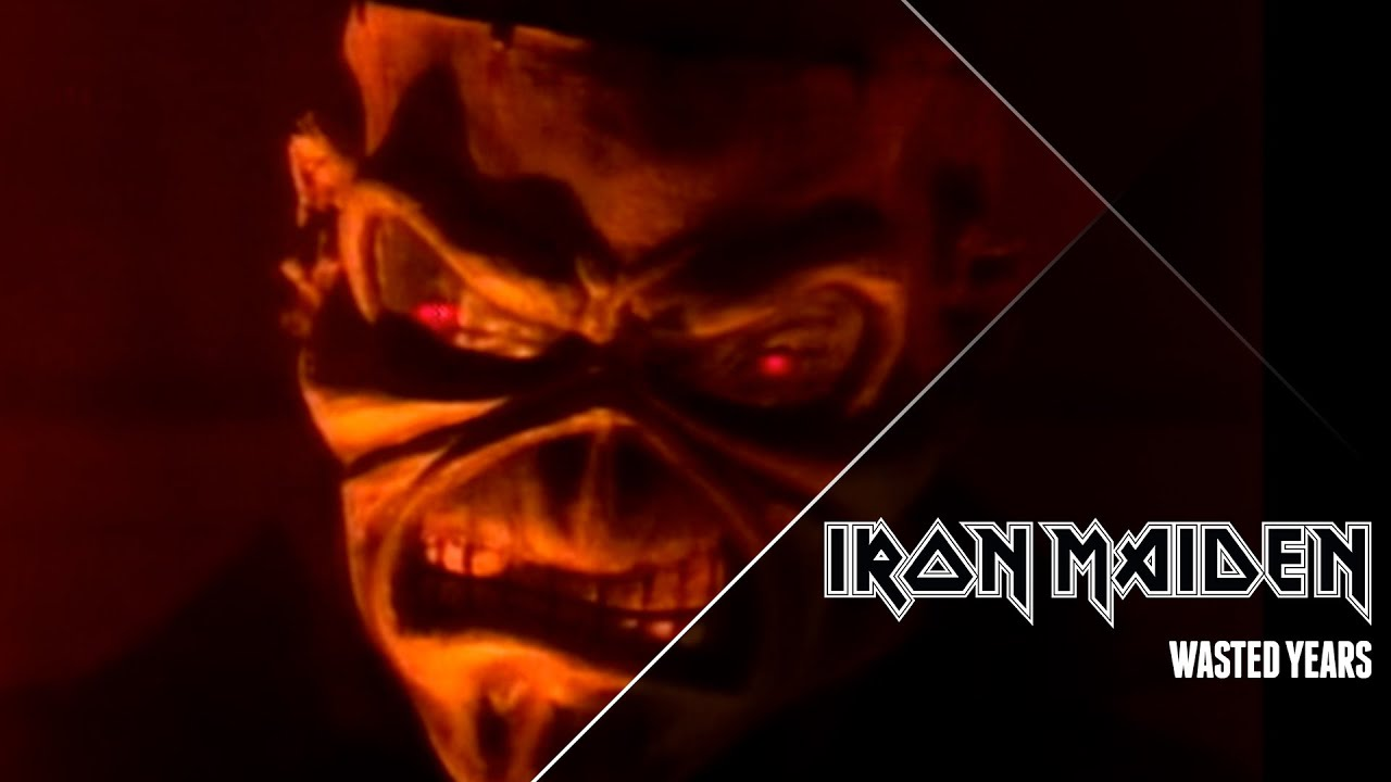 Iron Maiden Wasted Years Official Video Youtube