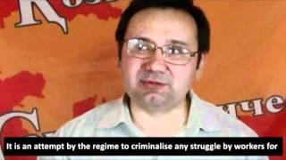 Ainur Kurmanov addresses Socialism 2011 closing rally