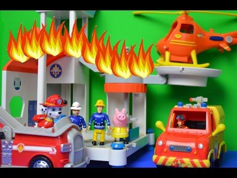 New Fireman Sam Ocean Rescue Centre Fire Paw Patrol Marshal Children's Animation
