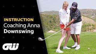 The PERFECT DOWNSWING Explained | Michael Campbell Tips | Coaching Anna | Golfing World