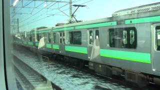 Repeat youtube video 【HD】常磐線E233系マト8 VS E231系快速雪中並走劇&利根川雪景色車窓