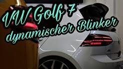 VW Golf 7 Facelift LED Rückleuchten dynamischer Blinker Wischerblinker