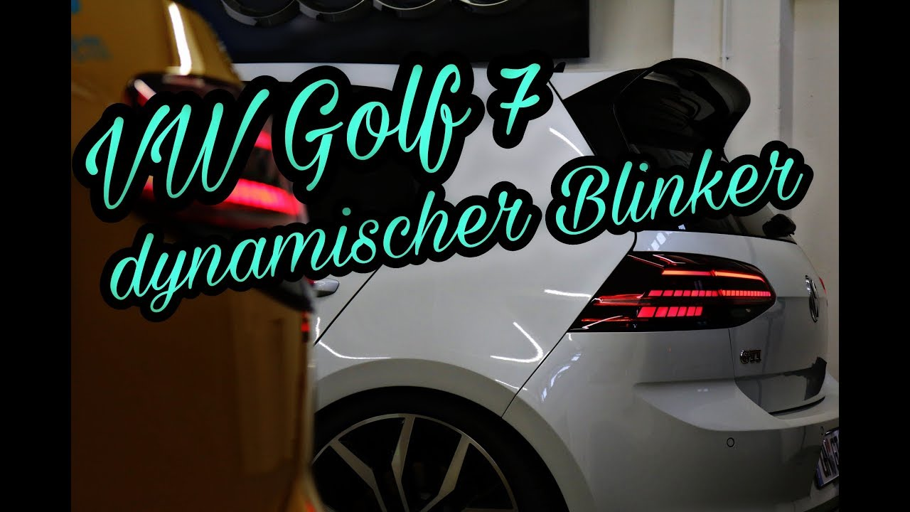 vw golf 7 facelift led r ckleuchten dynamischer blinker wischerblinker youtube. Black Bedroom Furniture Sets. Home Design Ideas
