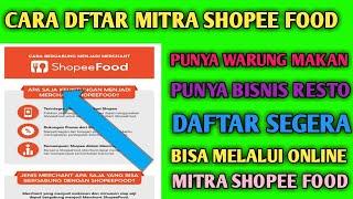 Daftar Restoran Di Shopee Food Cara Daftar Shopee Food Youtube