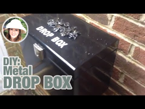 DIY metal drop box for a fraction of the price.