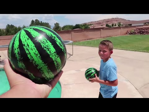 BEST REAL VS FAKE Adventure!! FILLING MY POOL WITH WATERMELONS!!