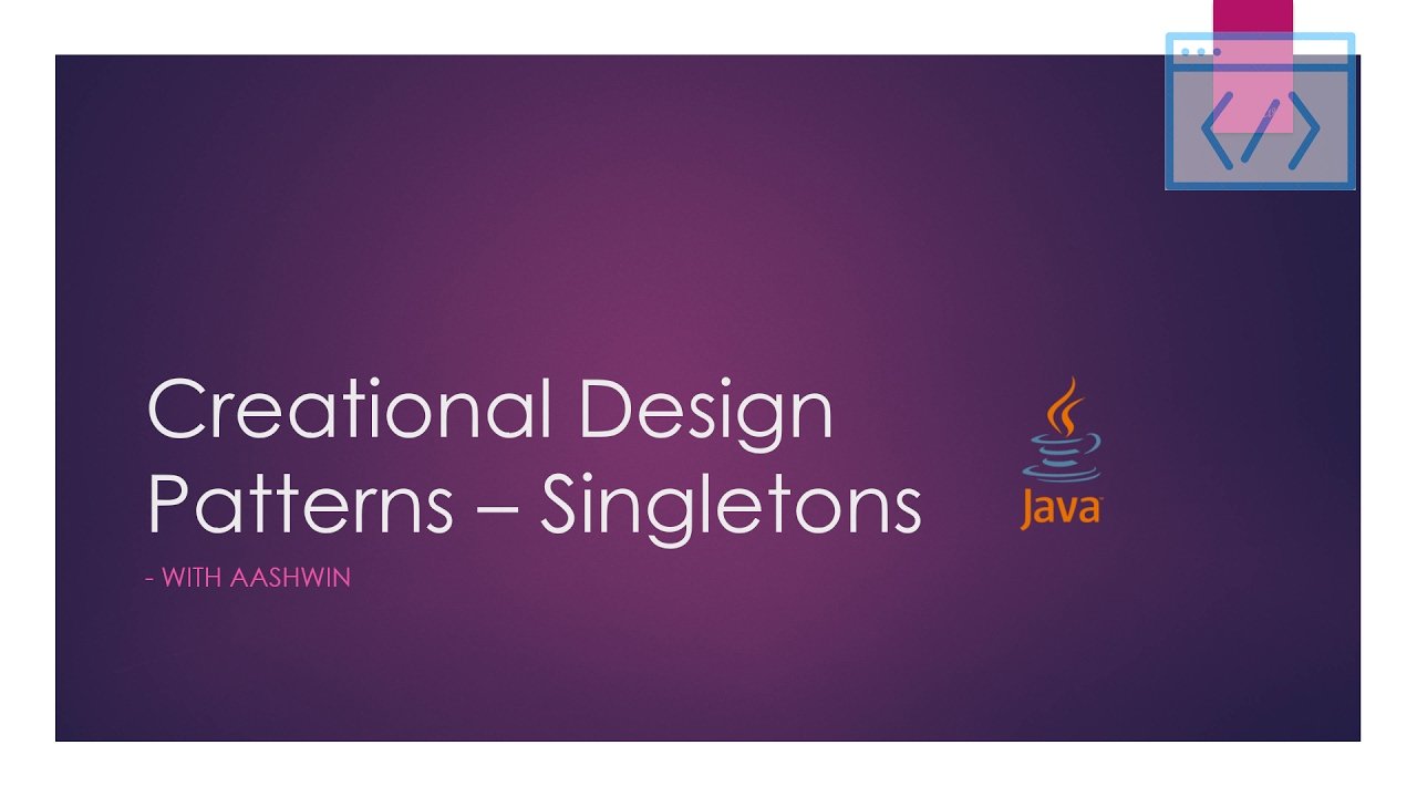 Java design patterns tutorial 2 creational singleton basic java design patterns tutorial 2 creational singleton basic baditri Images