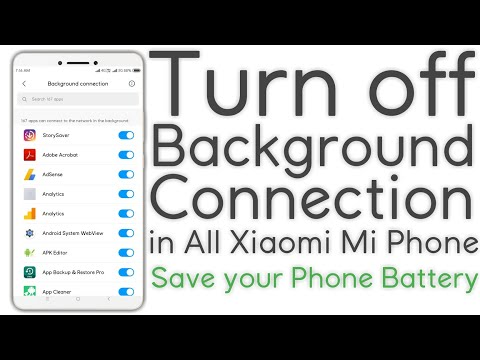 How To Turn Off Background Connection In All Xiaomi Mi Phone | Save Battery InPhone @Techno Panchal