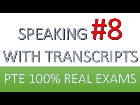 PTE Practice Speaking 8: from real test questions