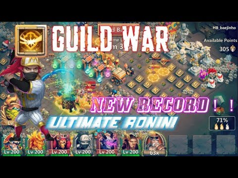 Survival Ultimate Ronin Guild War Gameplay PASS 5K POINT - Castle Clash