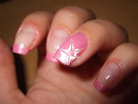 Pink French Manicure - Nail Art Tutorial - YouTube
