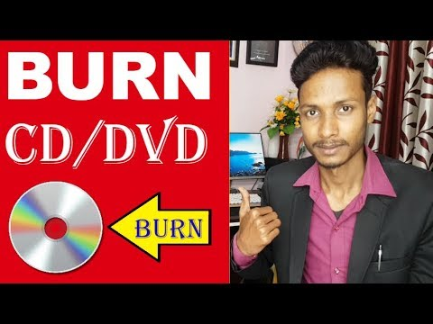Burn A CD/DVD In Windows 10 ,8,7 Without Software - Burning Program 2019